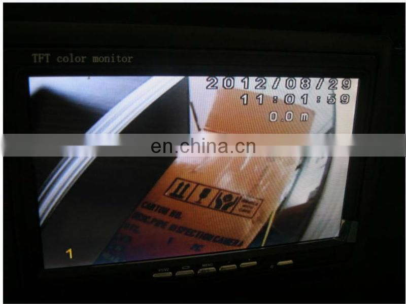 7 inch TFT LCD monitor cctv camera sewer pipe inspection with 6mm diameter camera TEC-Z710-5