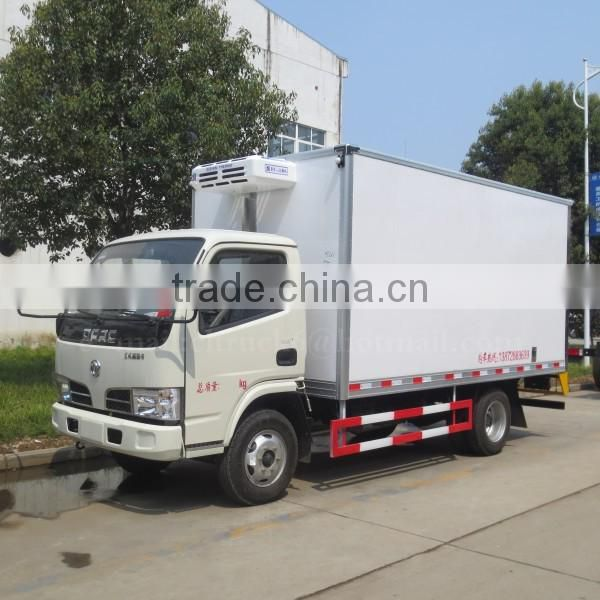 95hp DONGFENG 4*2 Chilled Goods Transport Truck 4 ton