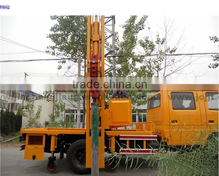 Highway Guardrail Hydraulic piledriver pile drilling pile