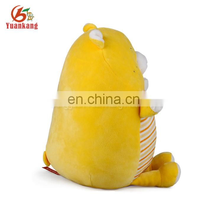 Factory wholesale plush yellow and blue bear stuffed animal toys