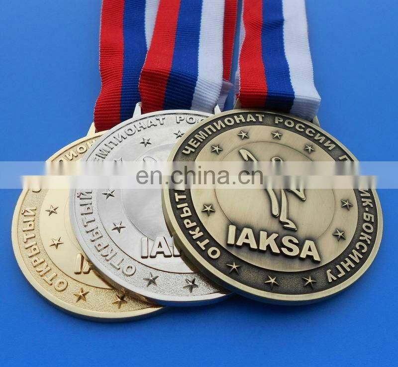 custom embossed logo vintage race medal for kids