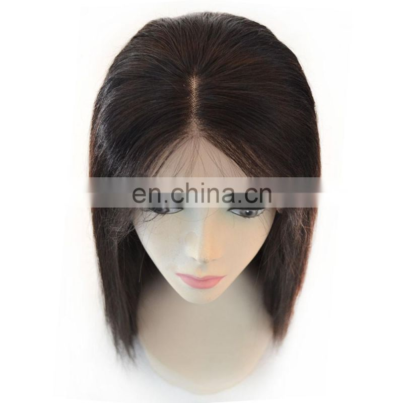 Straight Hair Best Selling Middle part Brazilian human hair lace front wig