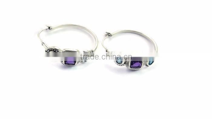 925 sterling silver gemstone earring