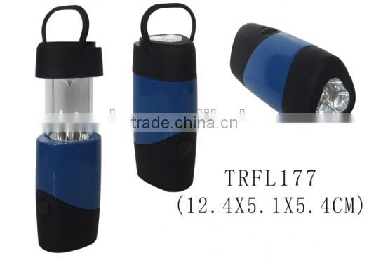 Telescopic hanging hook plastic LED lantern camping light
