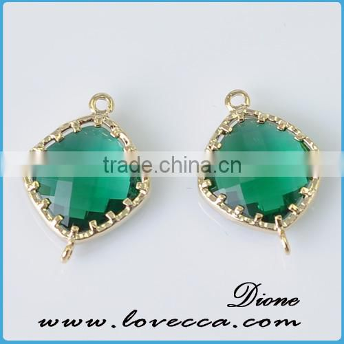 Best selling Aquamarine birthstone charms jewelry initial birthstone pendants