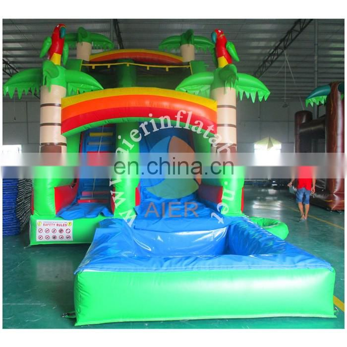 Hot Sell Inflatable forest Slide with pool