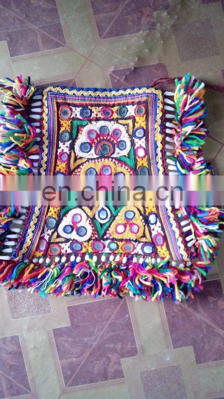 Indian Traditional Banjara Fabric Hand embroidered Mirror work patches