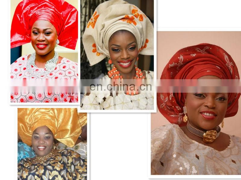 High quality African net headtie