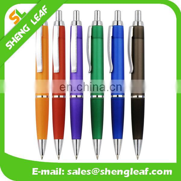 Transparent with rubber cheap promotional pens