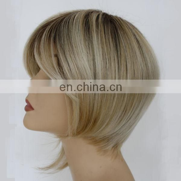 Factory in Qingdao best selling short bob wigs for black women