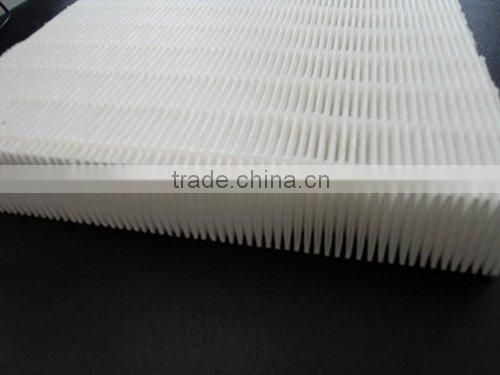 High flow mini pleated air filter cartridge