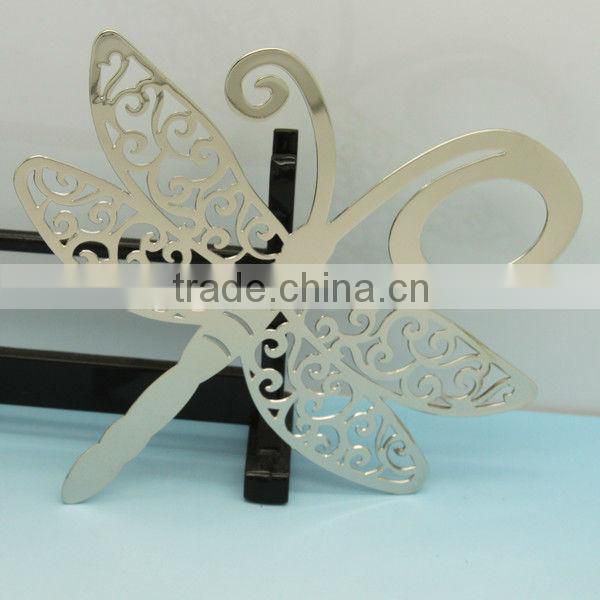 2015 wholesale metal contracted silver butterfly Christian Bookmarks for christmas