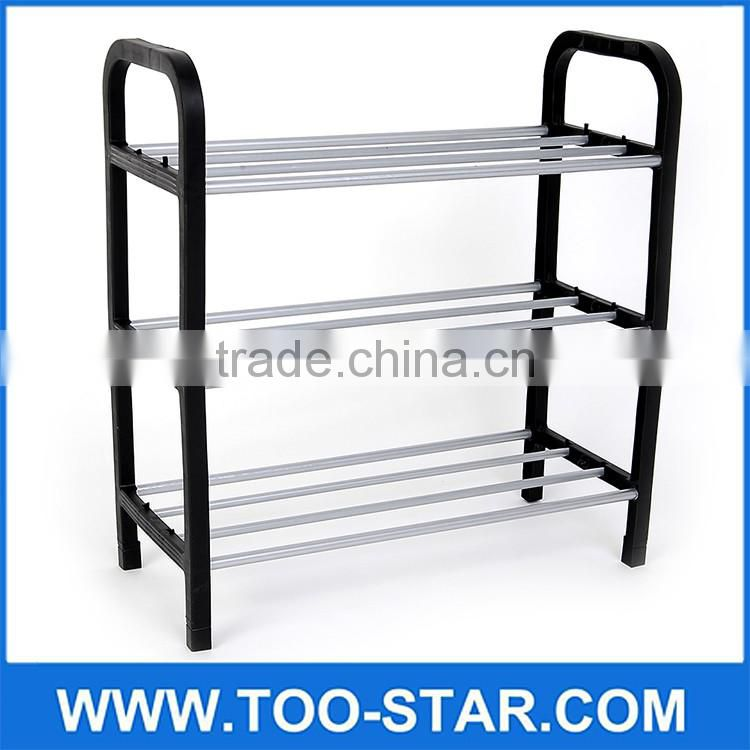 New 4 Tier steel storage shoe rack hanger Anti-corrosive steel tube The original plastic Easy installation DIY stand for shoes
