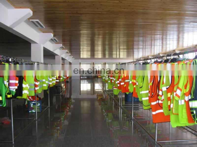 High Visibility Flashing Blue Reflective Safety Vest