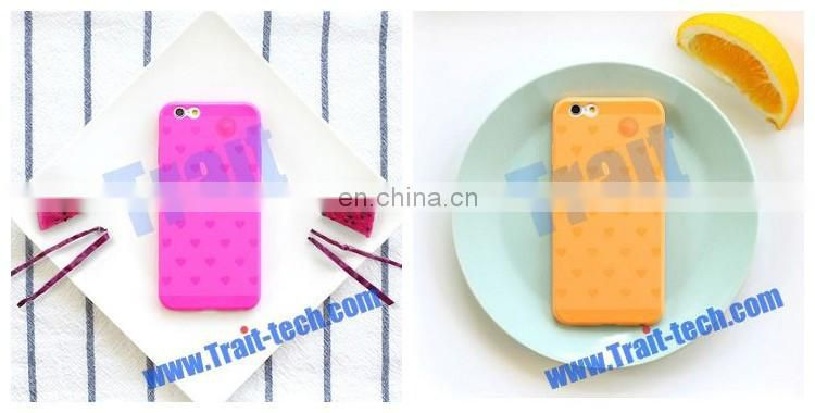 High Quality 8thdays Color Taste Series Heart Pattern TPU Back Case for iPhone 6 4.7 inch