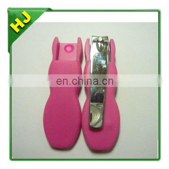 Protective silicone cover for nail clipper