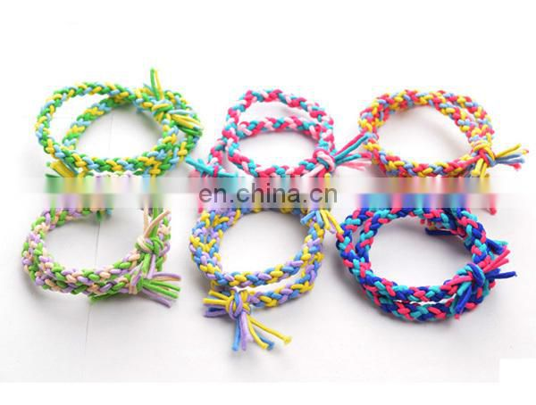 Popular Wholesale cheap colorful lovely hair rubber band