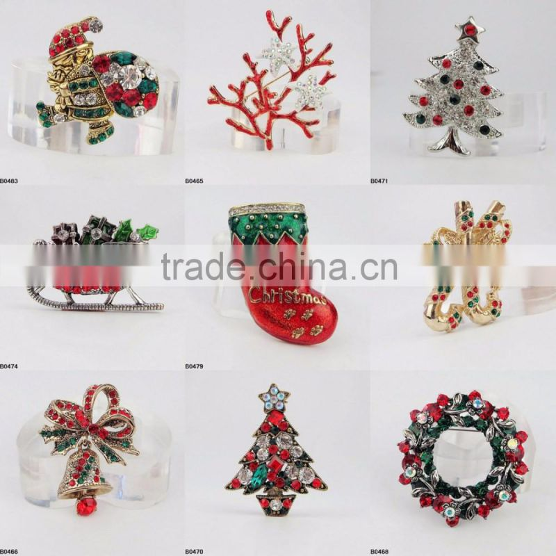 Wholesale Jewelry Christmas Gifts Xmas Red Shoes Brooch B0479