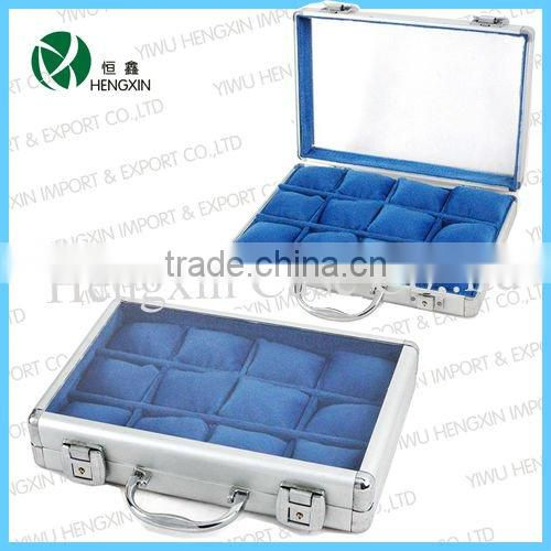 aluminum watch box for men, aluminium display watch case&box, watches show case, personalized watch boxes for wholesale(HX-Y346)