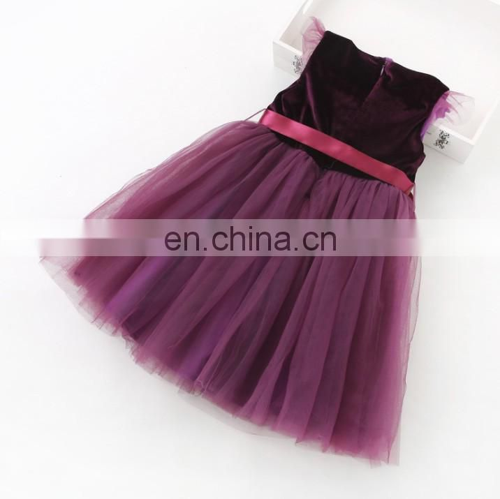 Burgundy Baby Girl Dress Tulle Petal Bow Slip Dress Holiday Outfit Princess Costume