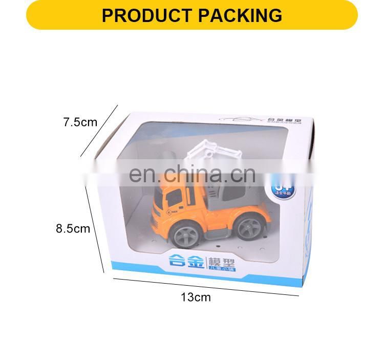 Kids friction diecast mini engineering toys car