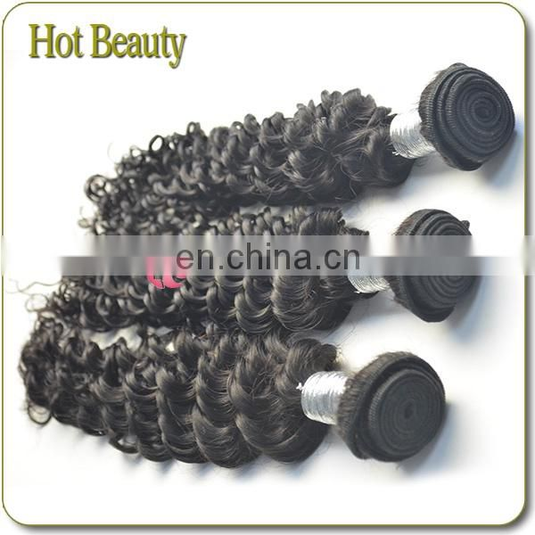 Hot Sell Popular Grade 5A Deep Curl Peruvian Hair Bundles