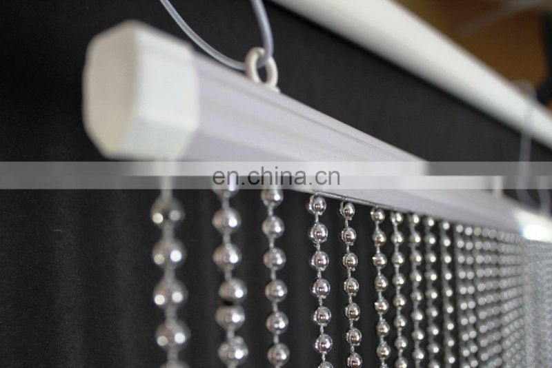 Faux Metal Balls Silver Hanging Beaded Curtains
