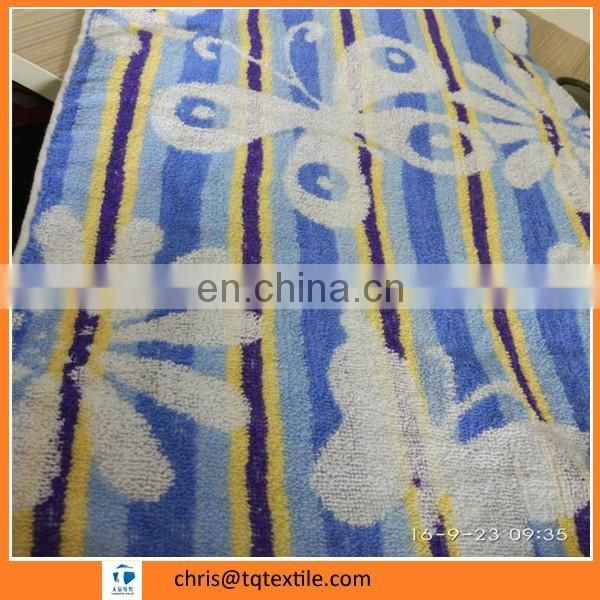 printed 400g cotton towel for 70*140cm