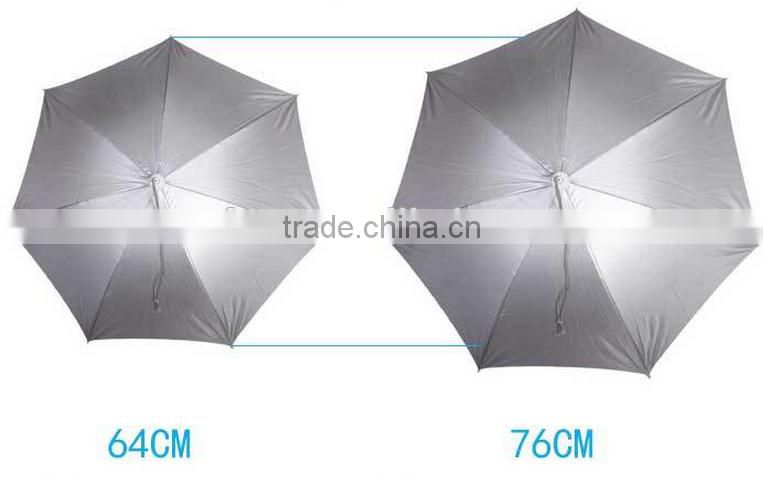 Fishing umbrella hat / ultraviolet Folding head umbrella hats / hat umbrella for fishing