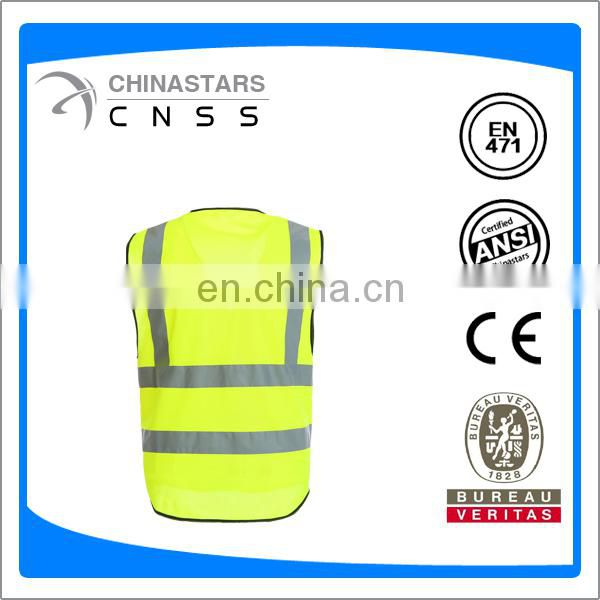 EN20471 safety vest with high wide reflective strip