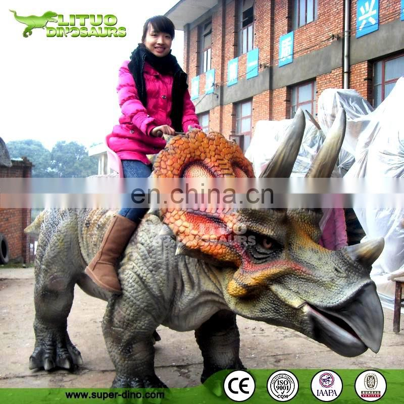 Outdoor Playground Equipment Animatronic Dinosaur Rides