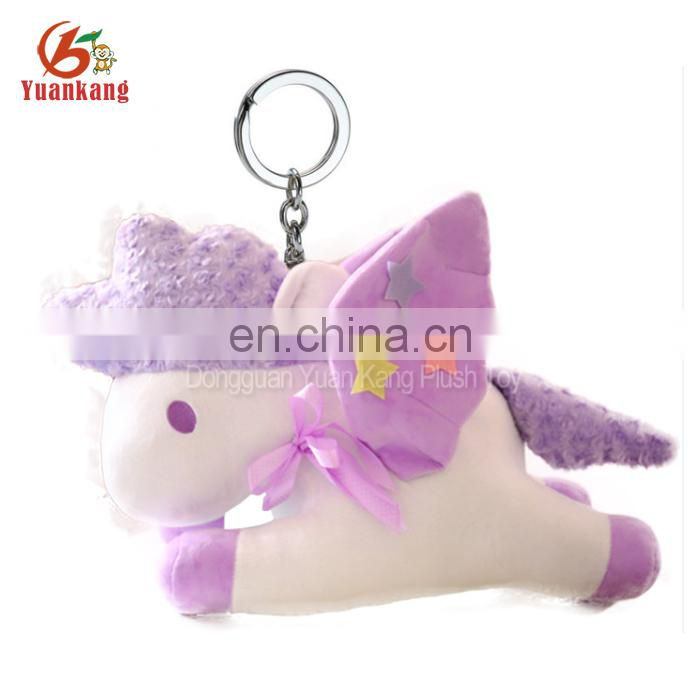 plush stuffed toy manufacture small custom soft toy unicorn keychain