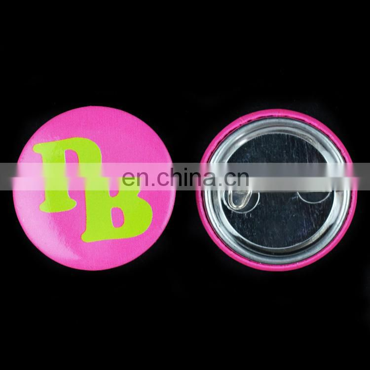 Cheap promotional offset printing pin badge round