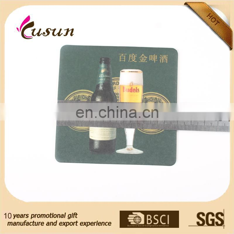 China Manufacturer Square Shape Custom Paper Cup Coaster