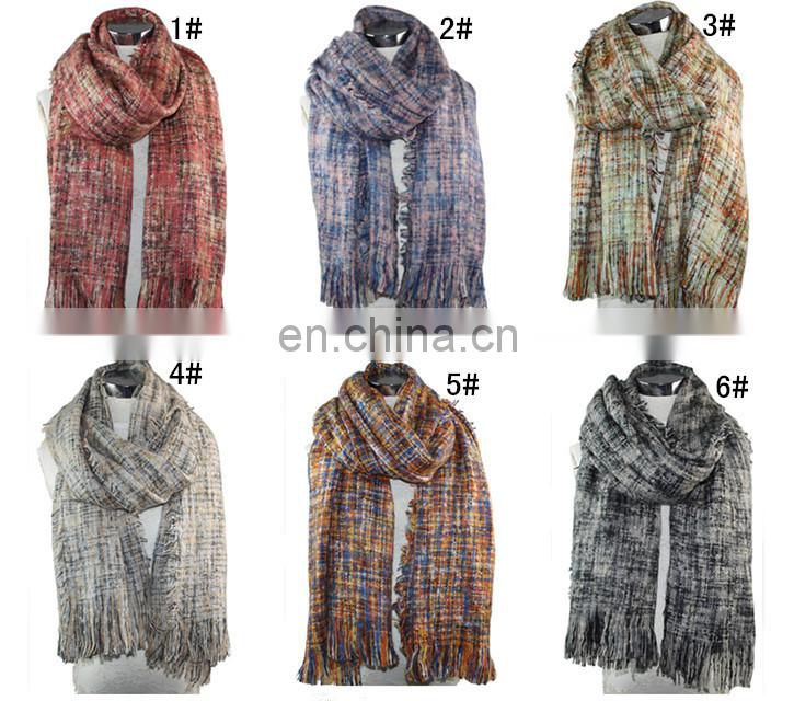 20150609 winter scarf warm new thick Scotland lattice lady's scarf pure colour butterflya006