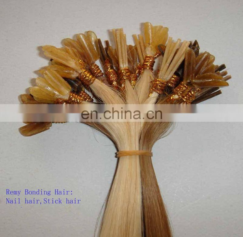 Best quality wholesale factory price european remy i tip human hair extensions