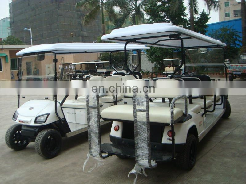 8 seater off road electric china tourist car for hotel school park widely use