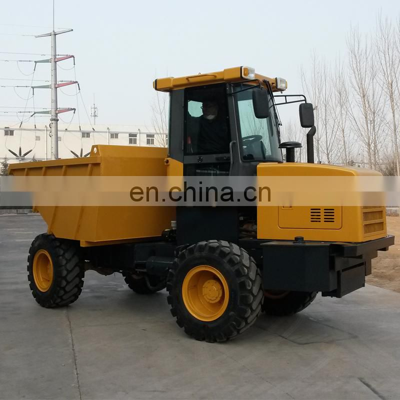 FCY70 4*4 wheel drive mini site dumper off road dump truck