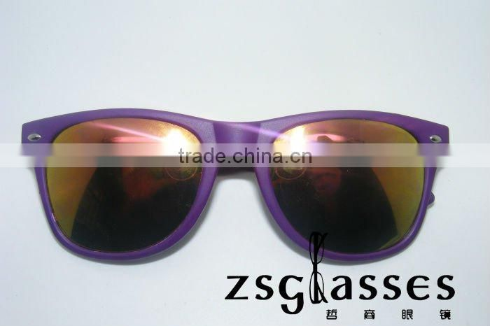 Cheap fashion promotion sunglasses/ custom design full color mirror spectacles/transparent lens glasses/oem