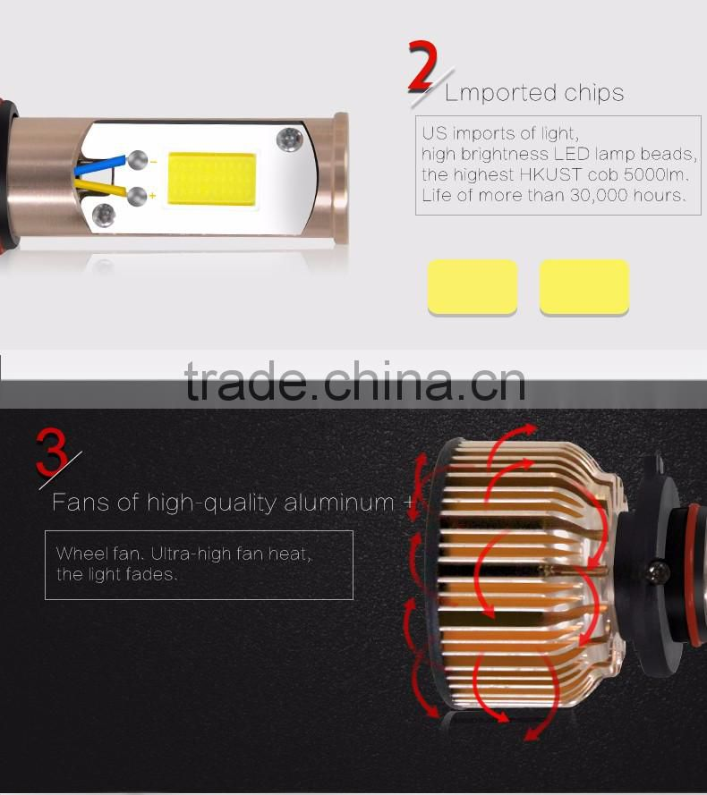 2016 new product auto spare parts 3C H8 led car headlight bulb 40w 12 volt high/low beam for car and automotive