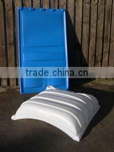 Rotationally molded car roof by rotomolding with rotomould, LLDPE