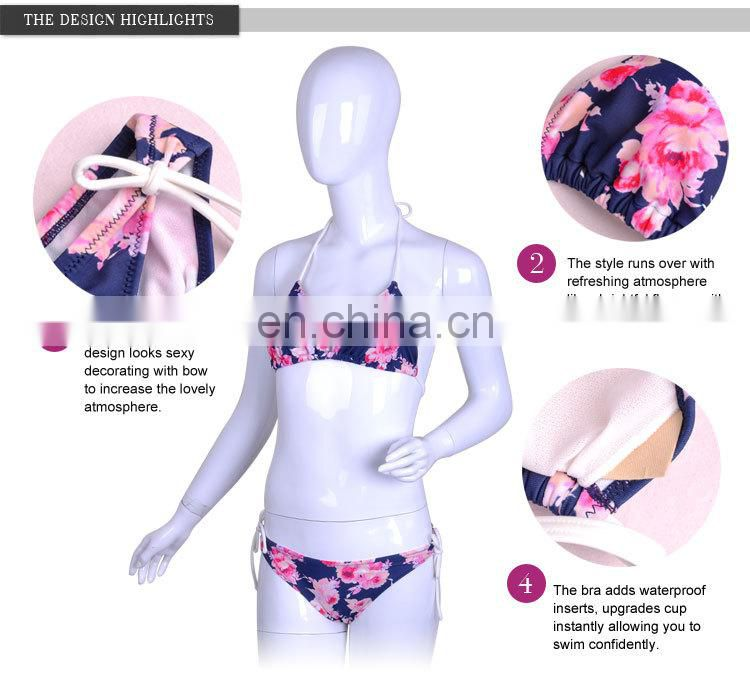 New Arrival Pretty Pattern Fit Printed Satin String Bikini Panty
