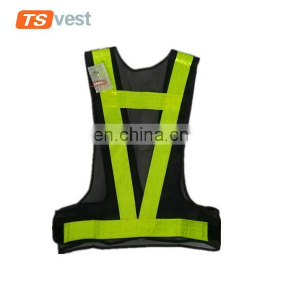 PVC reflective tapes mesh fabric traffis safety waistcoat for driver