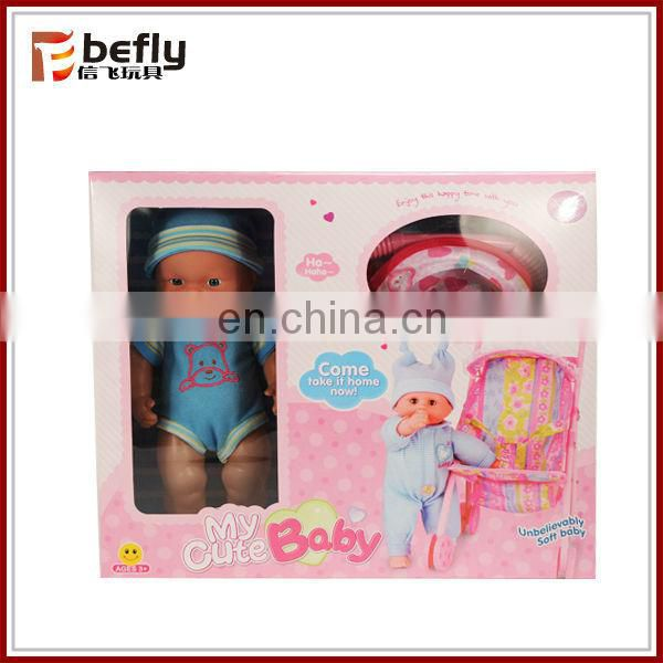 Mini doll walker toy with 12 inch doll