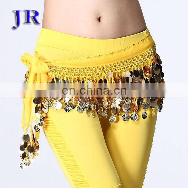 Cheap sequins tassel belly dance hip scarf Y-2010#