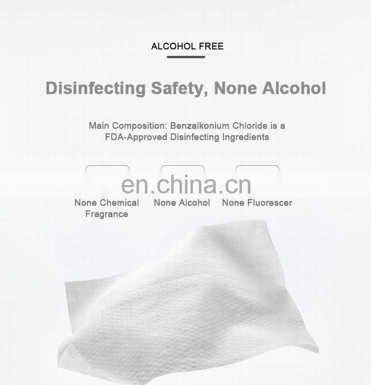 Ultra Compact Hygenic Biodegradable Surface Germicidal Sanitizer Antibacterial Clean Disinfectant Hand Wet Wipe