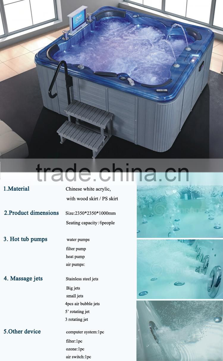 SPA-016 indoor whirlpool bathtub/ whirlpool bathtub bubble spa ...