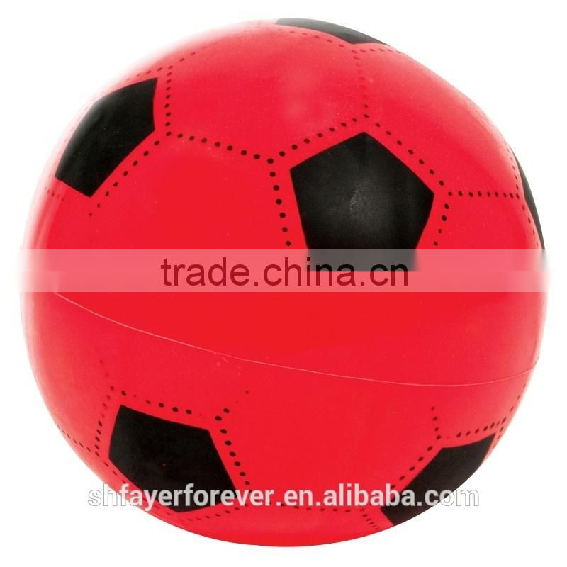 Red Foaming Leather Soccer Ball 1#,2#,3#,4#,5#