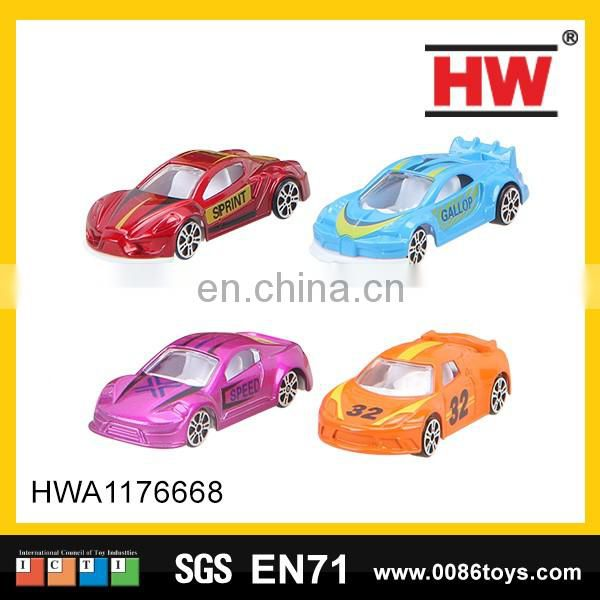 Hot selling plastic pullback racing car the track toy with two cars