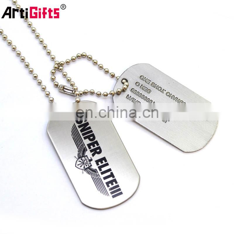 The queen of quality stainless steel simple dogtags
